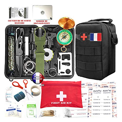 Kit de survie d'urgence 88 en 1 [ Nouveau Model 2020 ] Avec Trousse de...