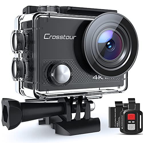 Crosstour Caméra Sport 4K, CT9000 Ultra HD Wi-FI 20MP Caméra Étanche 30M...