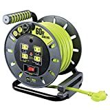Masterplug OMA601114G4SL-US 60' Cord Reel, Lime green, Assorted Colors, 60 Ft