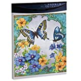 Collections Etc Vintage Spring Butterfly and Flowers Dishwasher Magnet, Blue