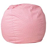 Flash Furniture Small Light Pink Dot Bean Bag Chair for Kids and Teens