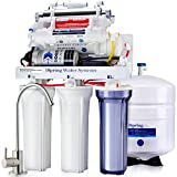 iSpring RCC1UP-AK 100GPD Under Sink 7-Stage Reverse Osmosis RO Drinking Filtration System and Ultimate Water Softener with Alkaline Remineralization, Booster Pump and UV Ultraviolet Filter