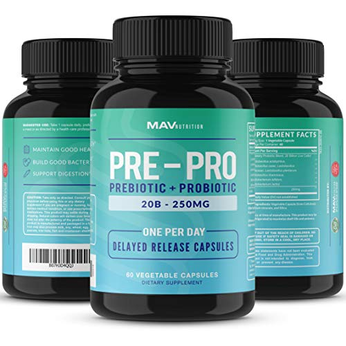 MAV Nutrition Probiotics + Prebiotics for Digestive Enzymes Support, Non-GMO, Vegetarian Friendly, 60 Count 8
