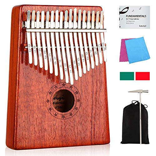 Kalimba 17 Keys Thumb Piano with Study Instruction and Tune...