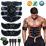 EGEYI Appareil Abdominal,Electrostimulateur Musculaire ABS Trainer EMS...