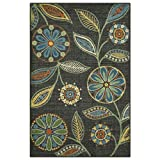 Maples Rugs Reggie Floral Kitchen Rugs Non Skid Accent Area Carpet [Made in USA], Multi, 2'6 x 3'10