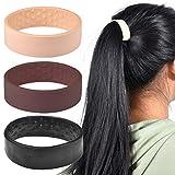Pince à cheveux pliable en silicone pour queue de cheval