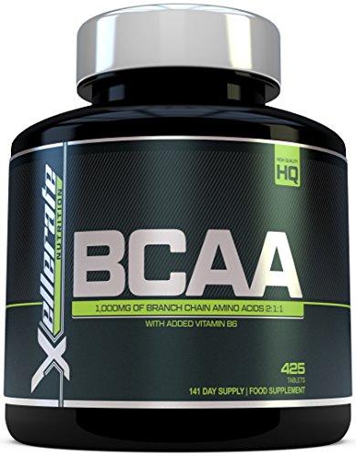 BCAA Compressa 1000mg | 425 Compresse | Dose Giornaliera 3000mg | Scorta Per 141 Giorni | Di Amminoacidi A Catena Ramificata 2:1:1 + B6 | Gli Ingredienti Includono L-leucina, L-isoleucina, L-valina