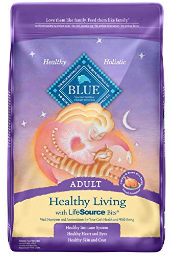 Blue Buffalo Healthy Living Natural Adult Dry Cat Food Chicken & Brown Rice 15-lb