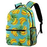 Mochila abstracta de limón, mochila de viaje, informal, para mujeres, adolescentes, niñas y niños