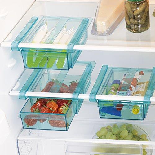GOURMETmaxx Cassetto a morsetti per frigorifero, set da 3 | 20,5 x 15 x 7cm, facile da appendere con...