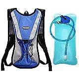 TOOLDO 2L mochila de hidratación con 2L bolsa de bicicleta de agua para correr al aire libre Ciclismo senderismo escalada bolsa de deportes, azul (Azul) - T3-093