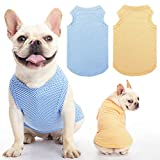 """Size Medium: Neck girth 10.2""""-11""""; Chest girth 14.5""""-16.1""""; Body length 11.8"""". Our pet shirts have some elasticity and suitable for most small and medium dogs, cats, please measure your pet and refer to the size chart before purchase. Bring Cool Expe..."""