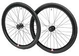 Retrospec Mantra 700c Deep V Fixed-Gear/Single-Speed Wheelset, Black