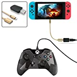 FastSnail Controller Converter for Nintendo Switch, Makes PS3/PS4 Dualshock/Xbox ONE Controllers Compatible with Your Switch, Support Vibration, with Type-C OTG Cable