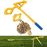 Nisorpa Fence Stretcher Chain Fence Strainer Heavy Duty Fence Energiser Repair Tool for Cattle Barn Farm Fencing Tensioner Repair Plain Barbed Wire Pulling Tool Puller 47.25'' Chain Capacity 2200lbs