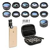 11 in 1 Cell Phone Camera Lens Kit Wide Angle Lens & Macro Lens+Fisheye Lens+Telephoto...
