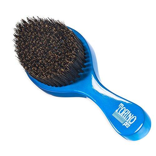 Torino Pro Wave brush #350 by Brush King - Medium Curve Waves Brush - Made with 100% Boar Bristles -True Texture Medium - All Purpose 360 Waves Brush