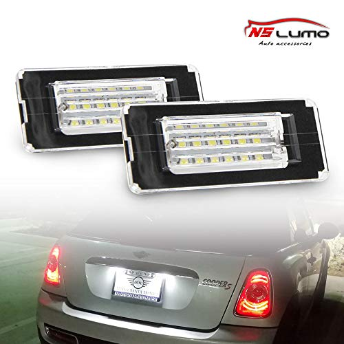 Newsun Oem Fit 18Smd 3528Smd Xenon Bianco LED targa Lampade 2Nd Gen
