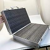Herramienta de la Caja de Herramientas Caja de Aluminio Maleta Cuadro Archivo de Impacto Equipo de Camara Resistente Caja de la Caja del Instrumento con pre-Corte de Espuma (Color : with Sponge)