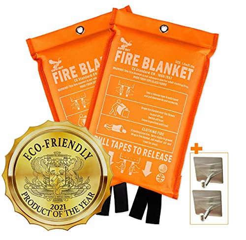 Supa Ant Eco-Friendly (1500֯F) High Visibility Fire Blanket, CE...