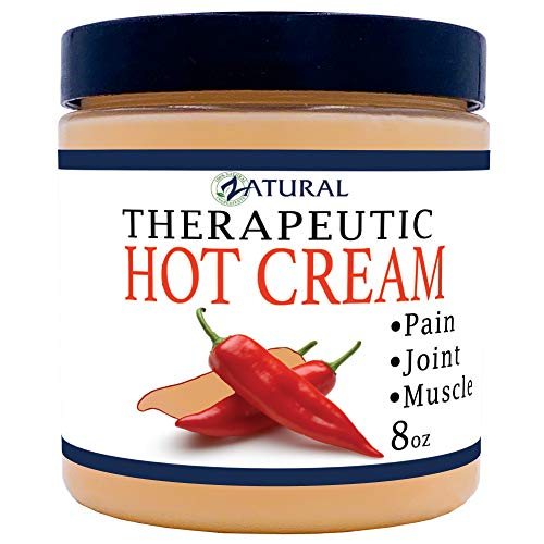 Organic Hot Cream-Cellulite Cream-Muscle Rub-Slimming Cream-Pain Relief-Body Wraps-Belly Fat-Skin Firming & Weight Loss-Professional Therapeutic Grade-Doctor Formulated (8 Ounce) 1