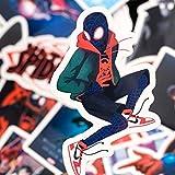 WYZNB WYZNBMarvelStickersSupermanStickersSuperhéroe Spiderman - Pegatina para carrito de monopatín (52 unidades)
