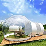 Eapmic Transparent Inflatable Bubble Tent Luxury Single Tunnel Bubble House Dome Greenhouse Tent with Blower 110V 350W for Outdoor Family Camping Backyard Party Festivals Stargazing (Style 1)