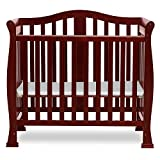 Dream On Me Addison 4-in-1 Convertible Mini Crib in Cherry, Greenguard Gold Certified