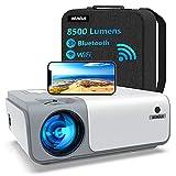 5G WiFi Videoprojecteur Full HD Bluetooth-WiMiUS W1,8500 Lumen Projecteur 1080p...