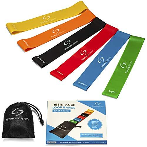 Starwood Sports Fasce Elastiche di Resistenza - Set da Bande Fitness Premium Allenamento - Perfette...