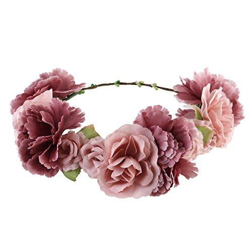 ULTNICE Diadema de flor guirnalda Floral corona guirnalda pa