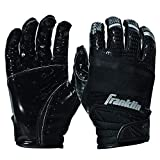 Franklin Sports Hi-Tack Premium Football Receiver Gloves - Black - Youth Medium