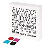 KAUZA Always Remember You are Braver Than You Think - Inspirational...