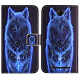 TienJueShi Wolf Fashion Stand TPU Silicone Book Stand Flip PU Leather Protector Phone Case for Unimax UMX U504tl 5 inch Cover Etui Wallet