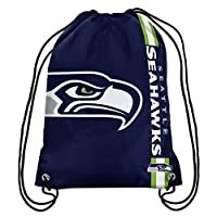 100% Licensed Product for the NFL, NCAA, NHL, NBA, and MLS ! Hand-Made Product ! Made of High-Quality Polyester Materials Classic drawstring design with gathered top to ensure items stay inside bag