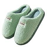 Zapatillas de estar por casa para hombre, pantuflas de peluche, cálidas,...