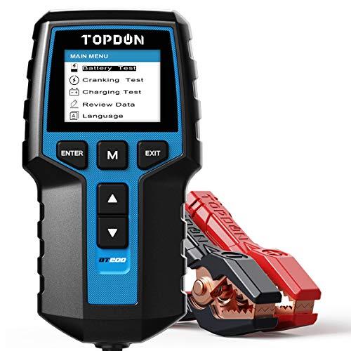 Car Battery Tester 12V 24V Load Tester, TOPDON BT200 100-2000CCA Automotive Alternator Tester...