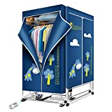 KASYDoFF Clothes Dryer Portable 1500W 1.7 Meters 3-Tier Foldable Clothes Drying Rack Energy Saving (Anion) Clothing Dryers Digital Automatic Timer with Remote Control for Apartment Houses