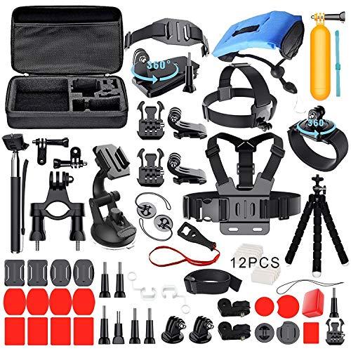Deyard Kit Premium Set di Accessori per GoPro Hero 9 Black GoPro Hero 8 Hero 7 Hero 6 Hero 5 Hero Session YI Campark Akaso Crosstour Apeman Sony Action Camera