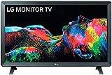 LG 24TL520S-PZ - Monitor Smart TV de 61cm (24') con pantalla LED HD (1366x768, 16:9, DVB-T2/C/S2, WiFi, HbbTV 2.0, Miracast, USB grabador, 10W, 2xHDMI 1.4, 2xUSB 2.0, Auriculares, Óptica) Color Negro
