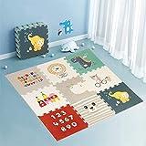 Star Ibaby Alfombra Puzzle para bebés Animals - Espesor 1.5 cm., Antideslizante, Extragrande,...
