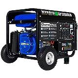 DuroMax XP12000EH 12000-Watt 18 HP Portable Dual Fuel Electric Start Generator,Blue and Black