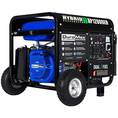 DuroMax XP12000EH 12000-Watt 18 HP Portable Dual Fuel Electric...