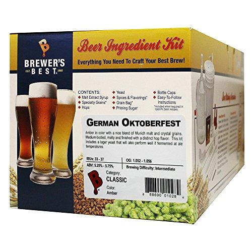 Brewer's Best - Home Brew Beer Ingredient Kit (5 gallon), (German Oktoberfest)