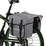 Lixada Bicycle Panniers Bag Portable Bike Saddle Bag Large Capacity Waterproof Bicycle Rear Seat Bag Bike Cargo Bag MTB Bike Storage Bag with Reflective