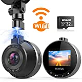 Caméra de Voiture WiFi, WiMiUS Dashcam Voiture FHD 1080P 170° Angle,...