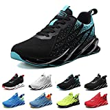 Basket Homme Chaussures de Sport Femme Running Confort Sneakers Tennis Casual Fitness Course légères Respirant Gym Outdoor Mode Multicolore Noir Blanc G33BlackBlue40