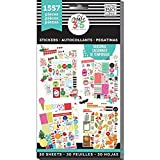 me & my BIG ideas Sticker Value Pack - The Happy Planner Scrapbooking Supplies - Brilliant Year Theme - Multi-Color & Gold Foil - Great for Projects & Albums - 30 Sheets, 1557 Stickers Total