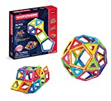 Magformers Basic Set (62-pieces) Magnetic Building Blocks, Educational Magnetic Tiles, Magnetic Building STEM Toy, Multi-colored, Model Number: 63070 (Toy)